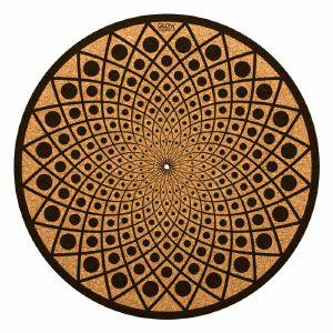 Glowtronics Black Hole Cork 12 Inch Slipmat (single)