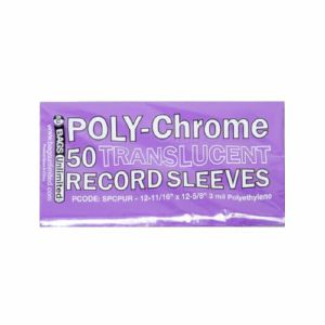 "Bags Unlimited 12"" Poly Chrome Translucent Purple Record Sleeves (pack of 50)"