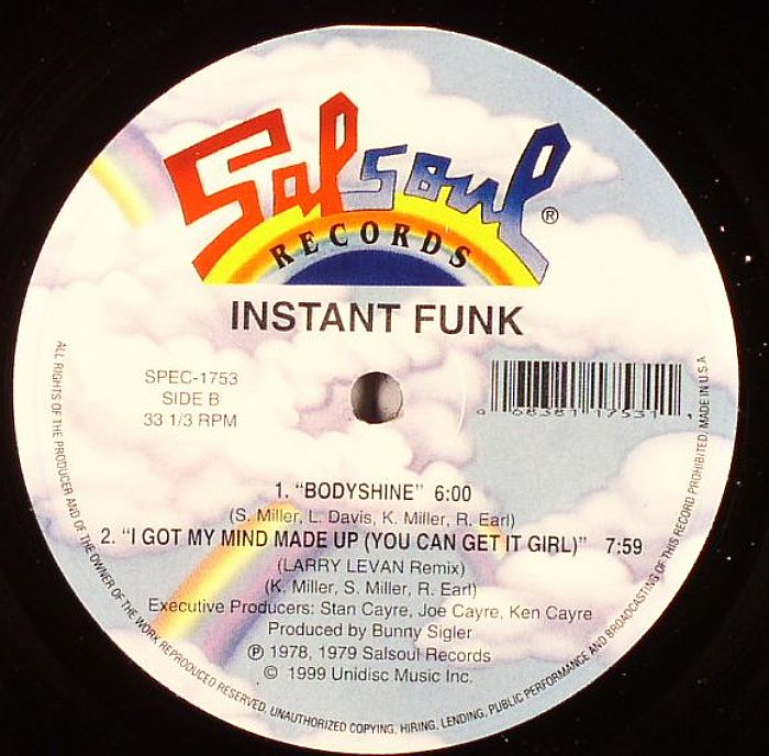 I Got My Mind Made Up : Instant funk i got my mind made up you can get girl
