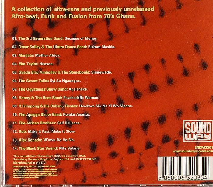 Various Ghana Soundz Afro Beat Funk Amp Fusion In 70s Ghana