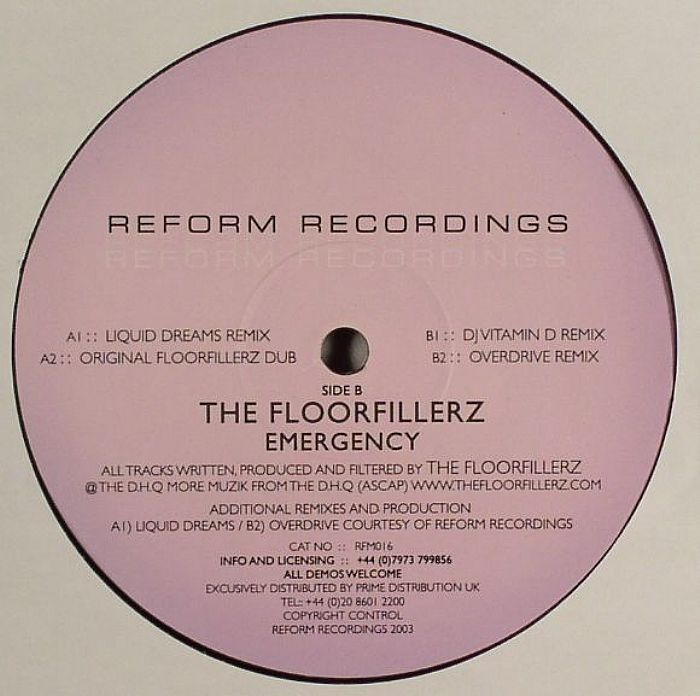Floorfillerz, The / DJ Vitamin D - Live Jazz 2001