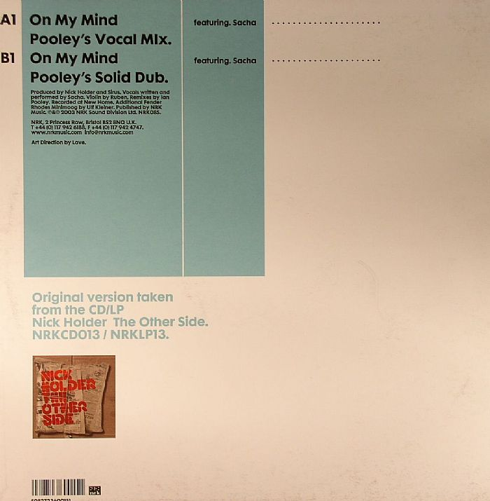 HOLDER, Nick feat SACHA - On My Mind