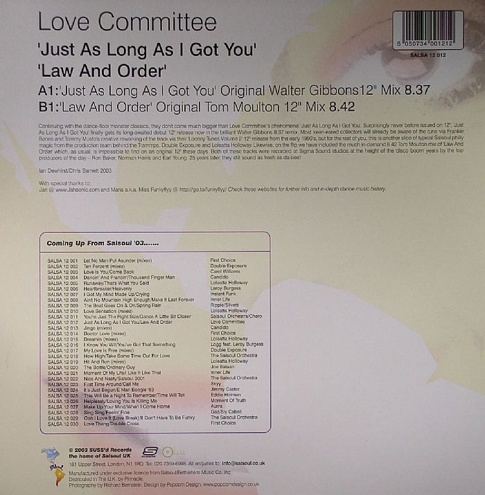 LOVE COMMITTEE - Just As Long As I Got You