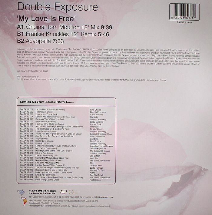 DOUBLE EXPOSURE - My Love Is Free