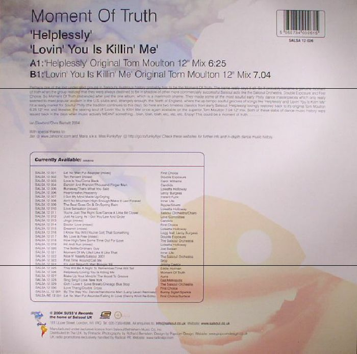 MOMENT OF TRUTH - Helplessly