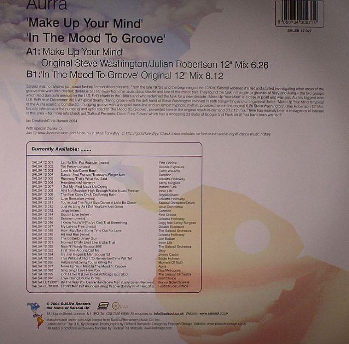 AURRA - Make Up Your Mind