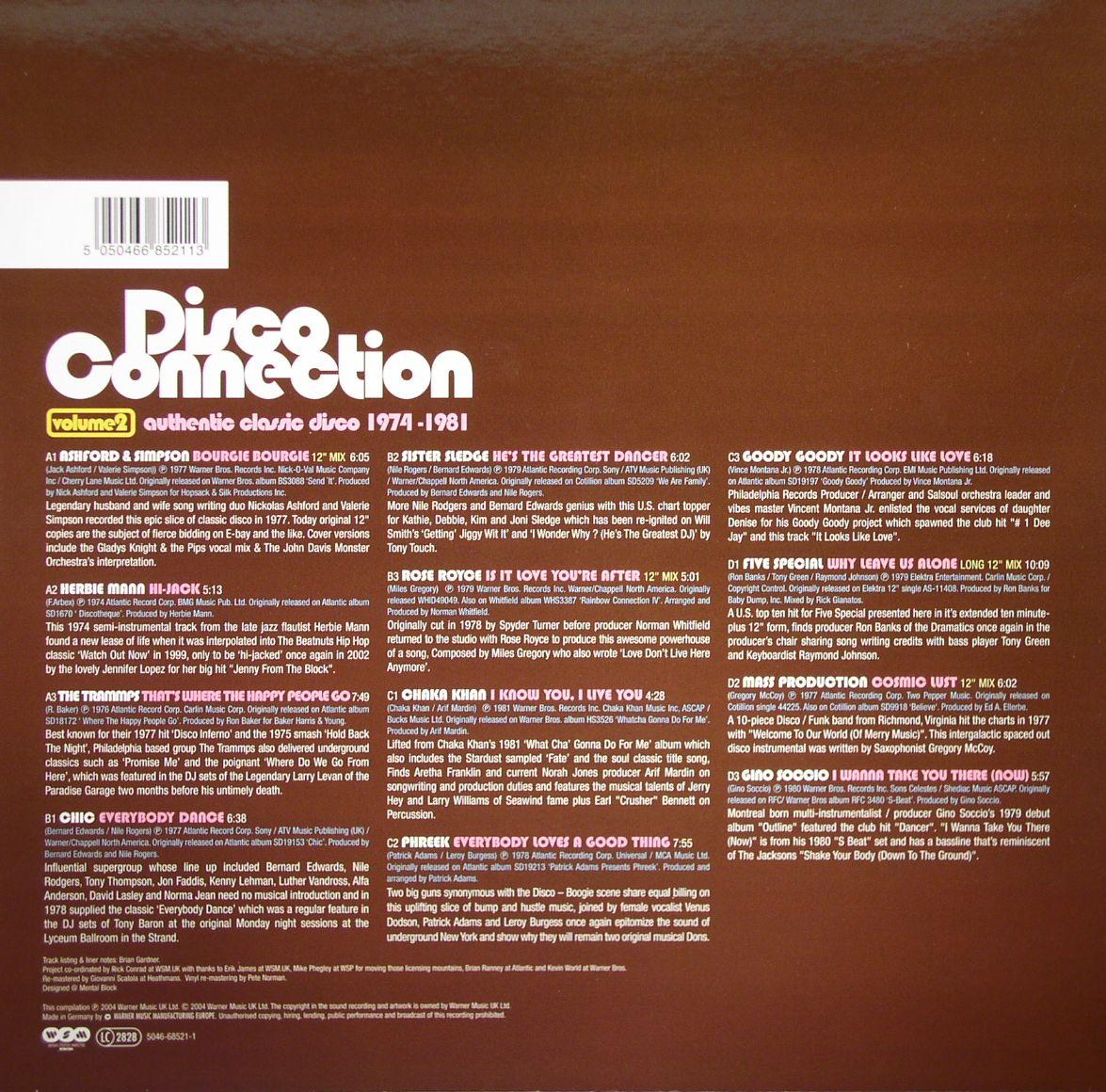 VARIOUS - Disco Connection Volume 2: Authentic Classic Disco 1974-1981