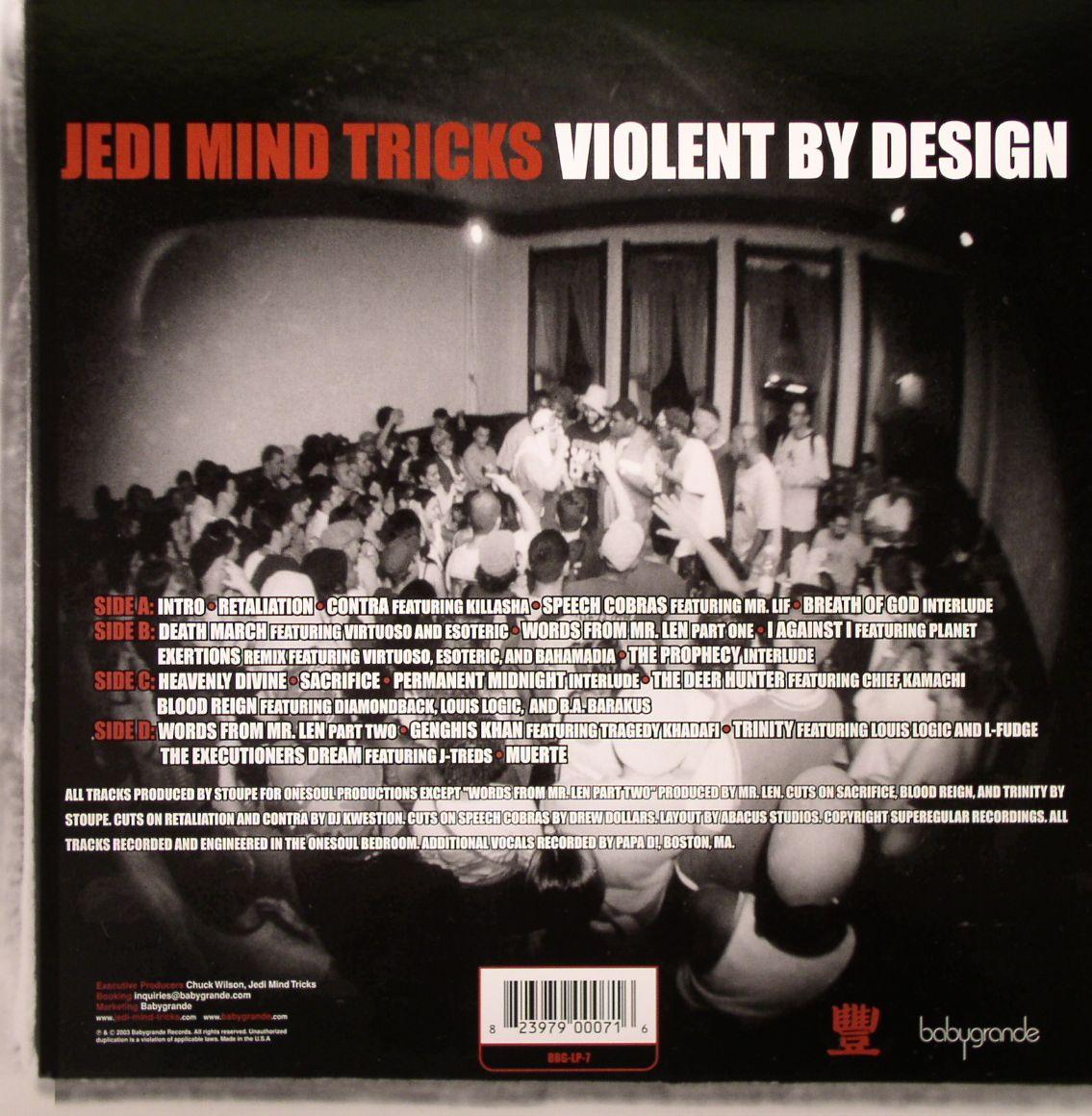 Jedi Mind Tricks Violent By Design Vinyl At Juno Records