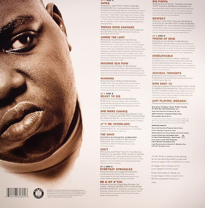 NOTORIOUS BIG Ready To Die (Remastered) vinyl at Juno Records.