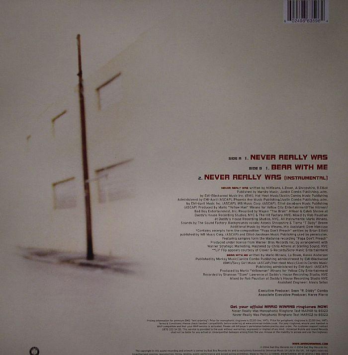Mario WINANS feat LIL FLIP Never Really Was vinyl at Juno