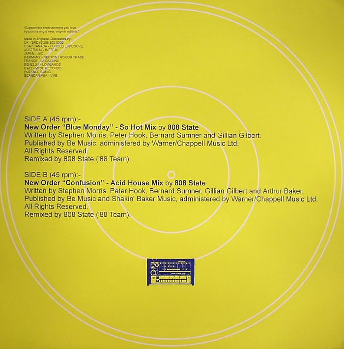 New order acid house mixes 808 state 1988 remixes vinyl for Acid house music 1988