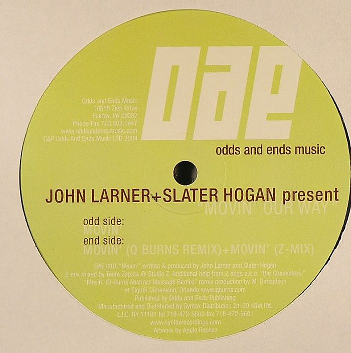 LARNER, John & SLATER HOGAN - Movin Our Way EP