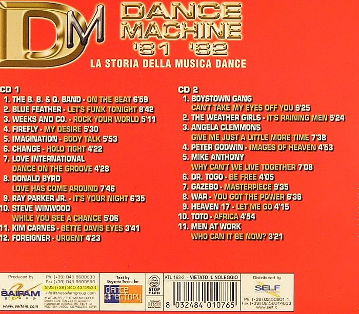 VARIOUS - Dance Machine '81 '82: History Of Dance Part 2
