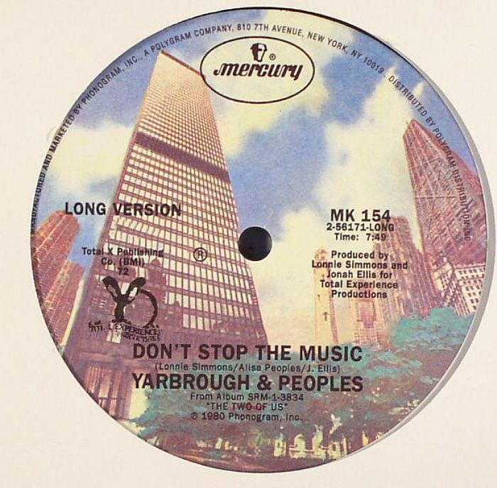 YARBOROUGH & PEOPLES - Don't Stop The Music