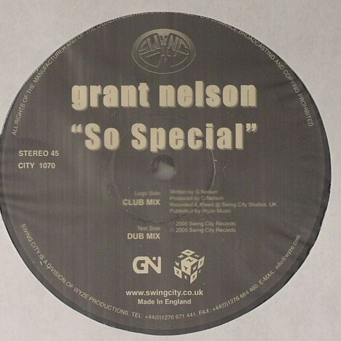 NELSON, Grant - So Special (warehouse find, slight sleeve wear)
