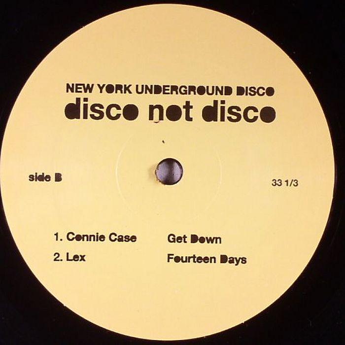 DISCO NOT DISCO - New York Underground Disco