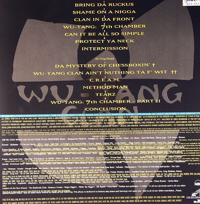 Wu Tang Clan Enter The Wu Tang 36 Chambers Vinyl At Juno