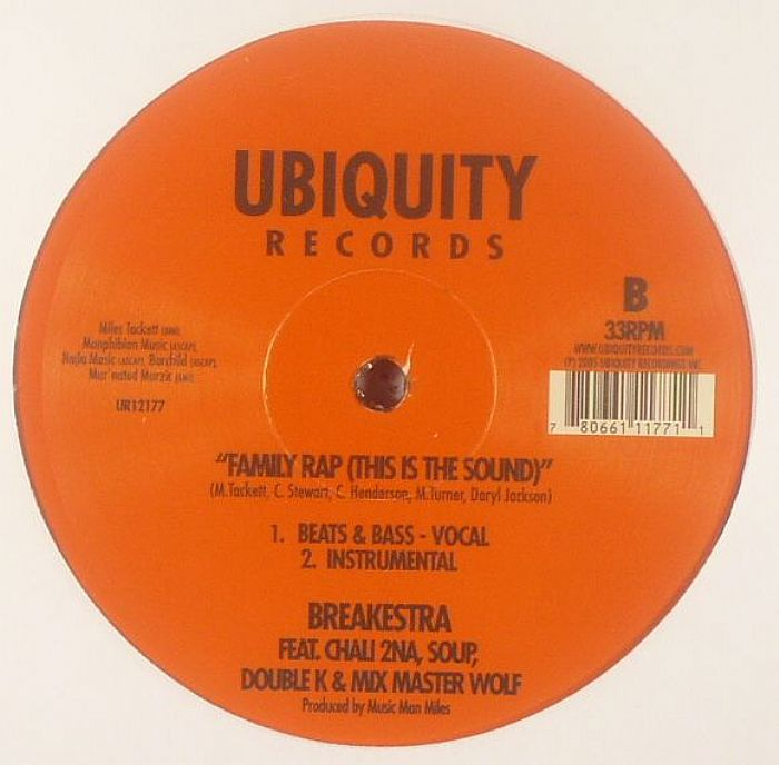 BREAKESTRA feat CHALI 2NA/SOUP/DOUBLE K/MIX MASTER WOLF - Family Rap (This Is The Sound)