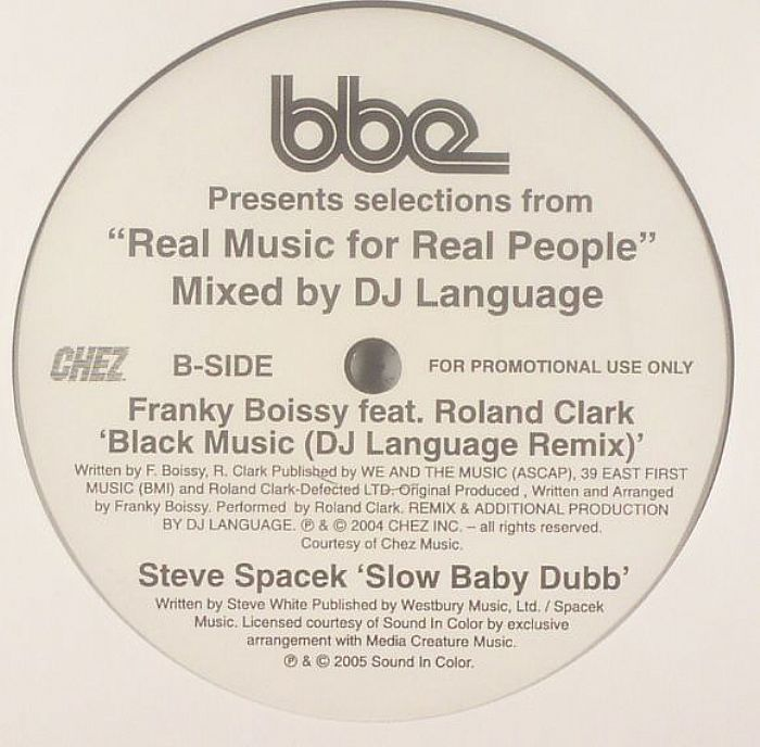 AYERS, Roy/GREAT WEEKEND/FRANKY BOISSY feat ROLAND CLARK/STEVE SPACEK - Real Music For Real People Mixed By DJ Language (Sampler)