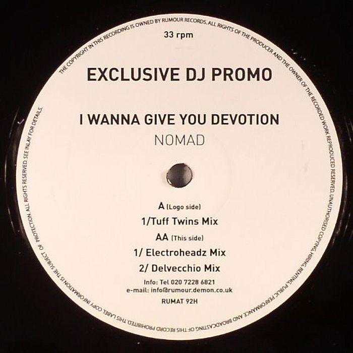 Nomad - (I Wanna Give You) Devotion The Remixes