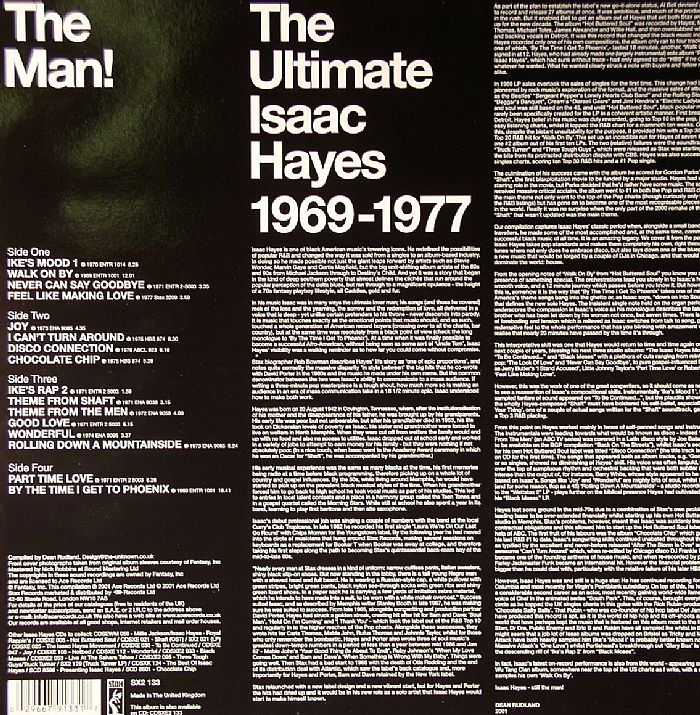 HAYES, Isaac - The Man!: The Ultimate Isaac Hayes 1969-1977