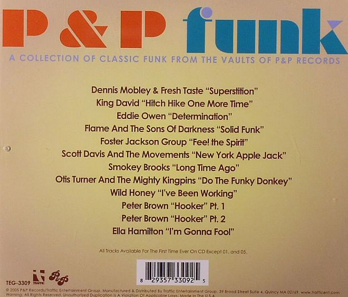 VARIOUS - P&P Funk: A Collection Of Classic Funk From The Vaults Of P&P Records