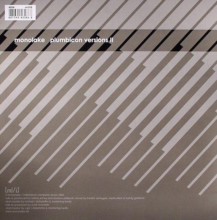 MONOLAKE - Plumbicon Versions II