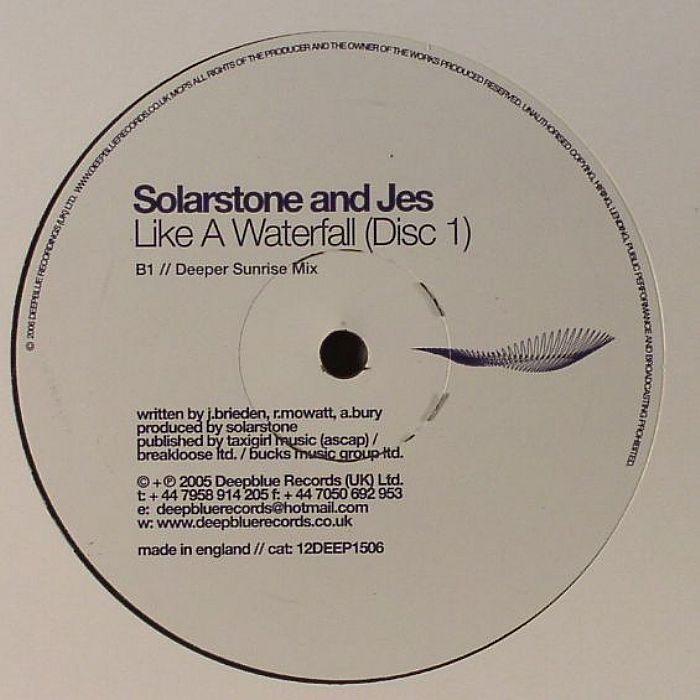 Nunudes Co Uk Jes: SOLARSTONE/JES Like A Waterfall (Disc 1) Vinyl At Juno