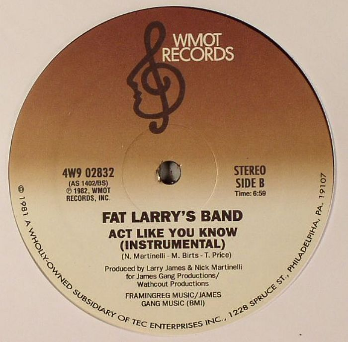 FAT LARRYS BAND - Act Like You Know
