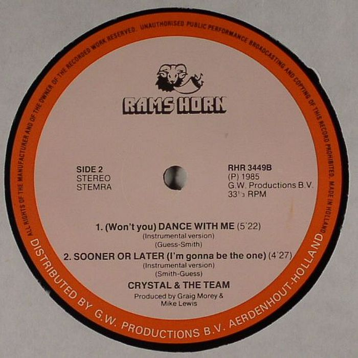 CRYSTAL & THE TEAM - Won't You Dance With Me
