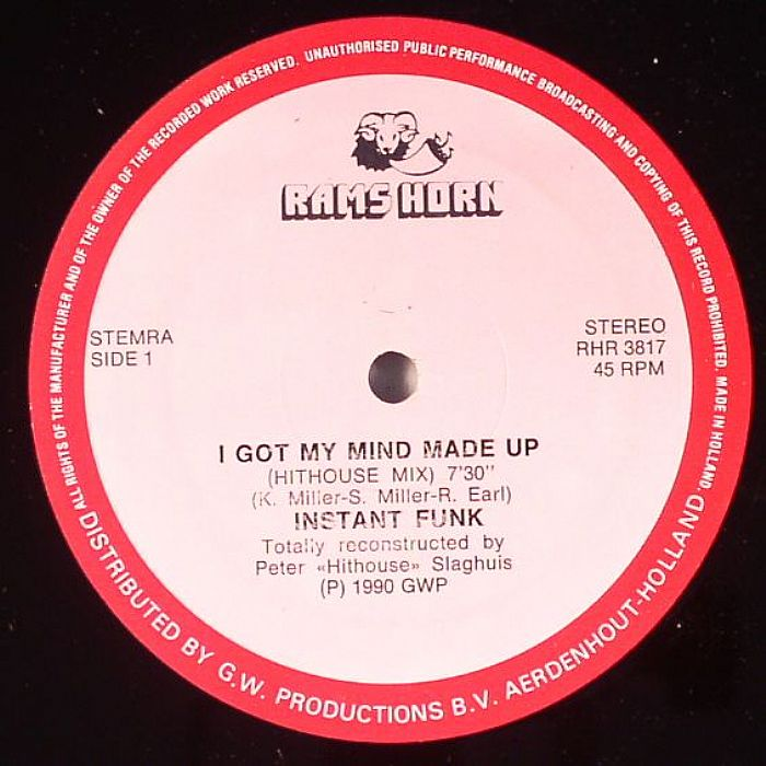 I Made Up Instant Funk Got My Mind : Instant funk i got my mind made up vinyl at juno records