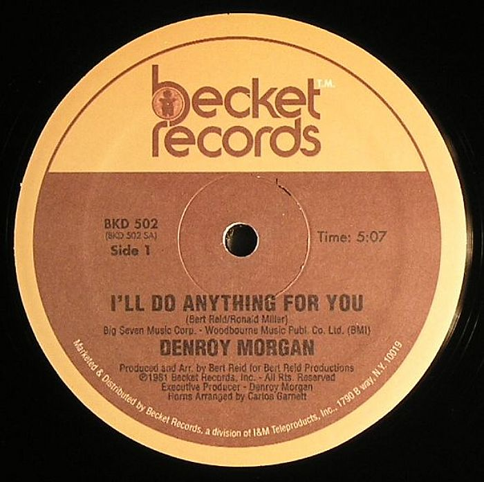 Denroy Morgan I Ll Do Anything For You Vinyl At Juno Records