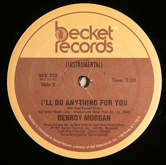 Denroy Morgan I Ll Do Anything For You Vinyl At Juno Records
