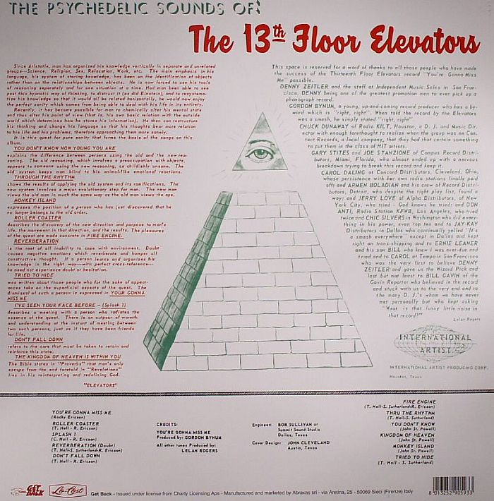 13th floor elevators the psychedelic sounds of the 13th for 13th floor uk