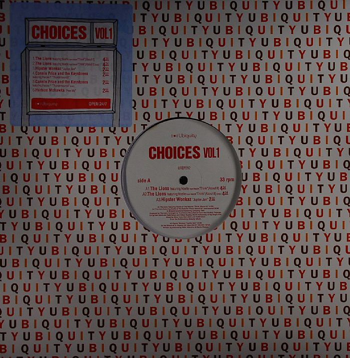 LIONS, The feat NOELLE/HIPSTER WONKAZ/CONNIE PRICE/THE KEYSTONES feat PERCEE P/HUDSON MOAWKE - Choices Vol 1