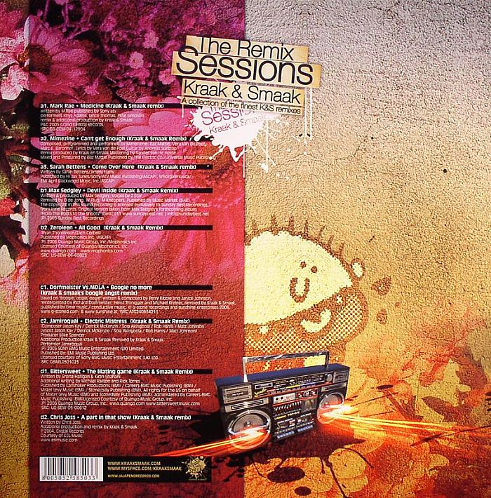 KRAAK & SMAAK/VARIOUS - The Remix Sessions: A Collection Of The Finest K&S remixes