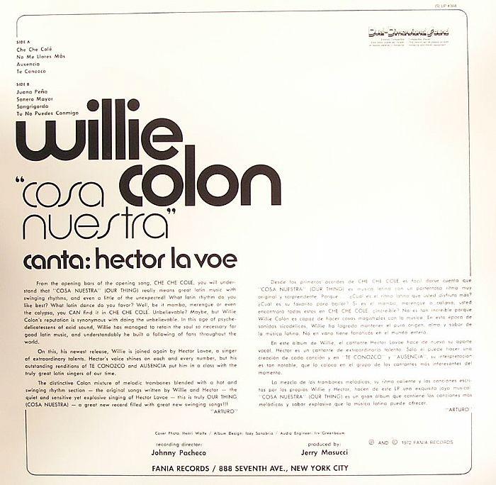 COLON, Willie - Cosa Nuestra