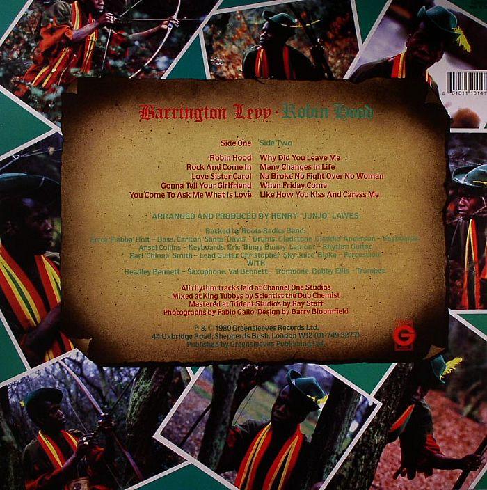 LEVY, Barrington - Robin Hood (reissue with bonus tracks)