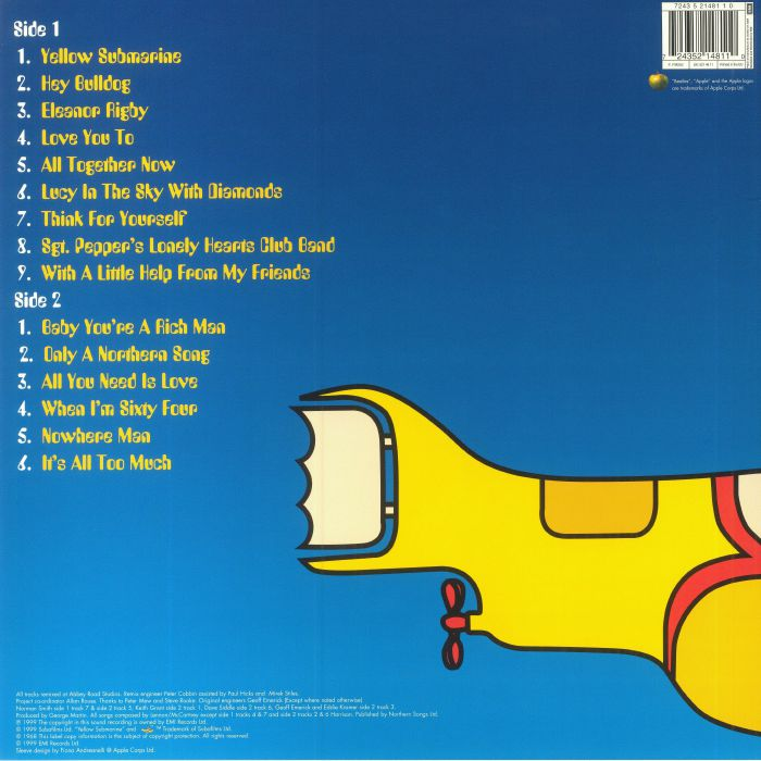 The Beatles Yellow Submarine Songtrack Vinyl At Juno Records