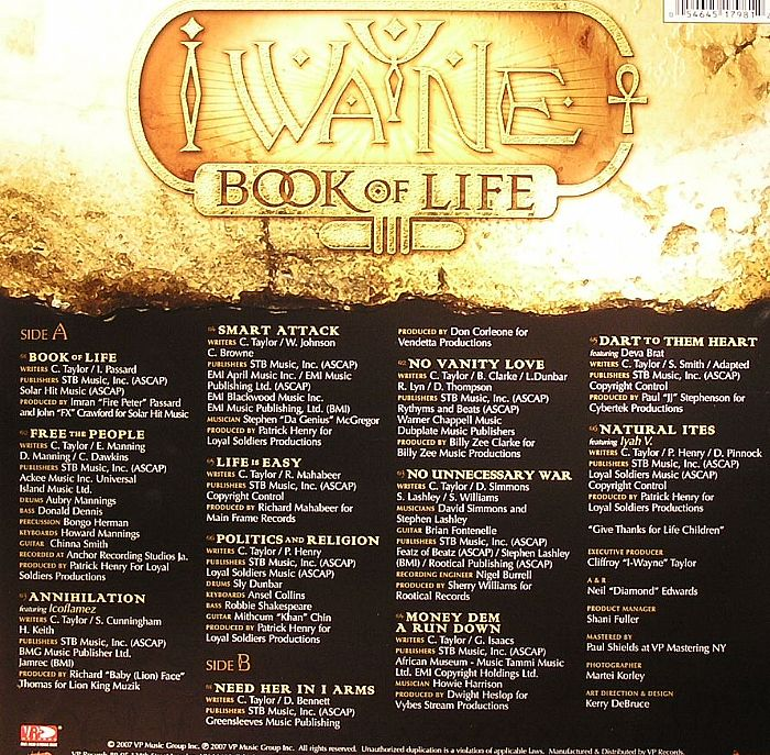 I WAYNE - Book Of Life