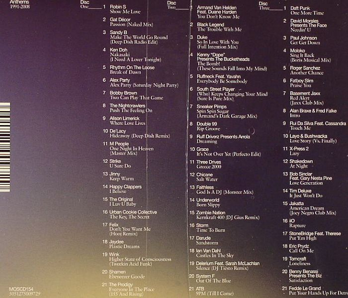 Various Ministry Of Sound Anthems 1991 2008 Vinyl At Juno