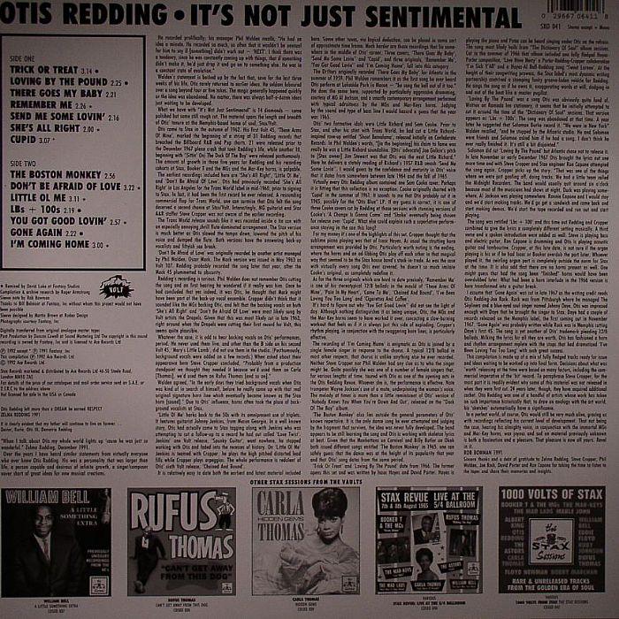 REDDING, Otis - The Unheard Otis :It's Not Just Sentimental