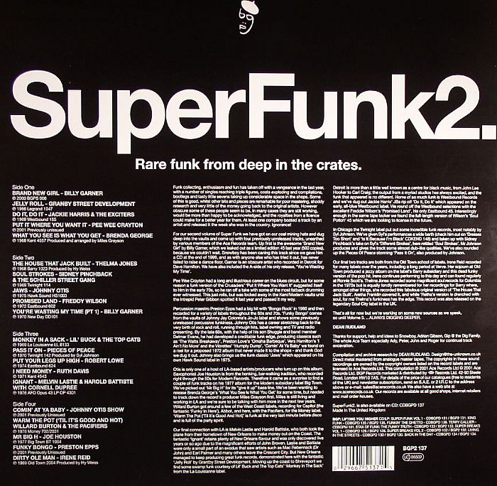 VARIOUS - Super Funk 2 :Rare Funk From Deep In The Crates