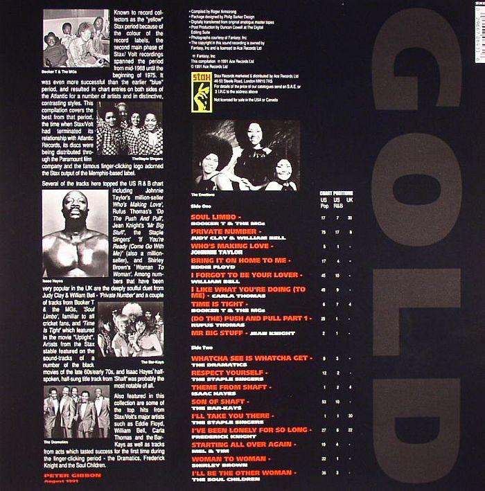 VARIOUS - Stax Gold Hits 1968-1974