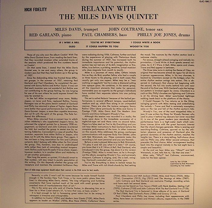 DAVIS, Miles - Relaxin' With The Miles Davis Quintet