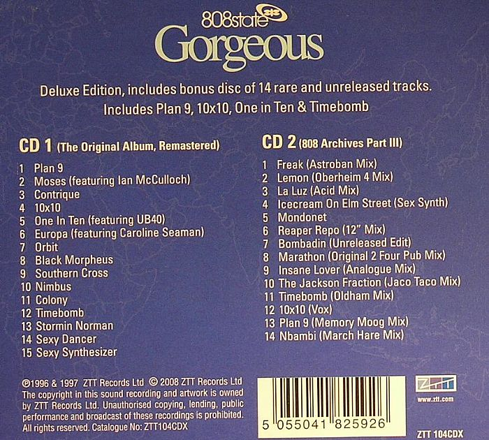 808 STATE - Gorgeous (Deluxe Edition)
