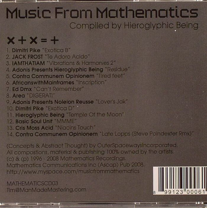 HIEROGLYPHIC BEING/VARIOUS - Music From Mathematics