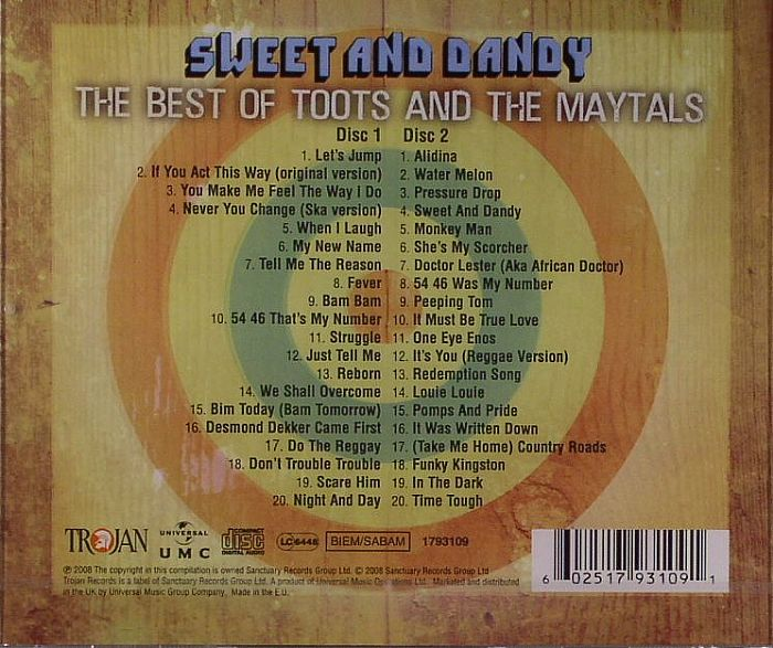 Toots Amp The Maytals Sweet Amp Dandy The Best Of Toots Amp The