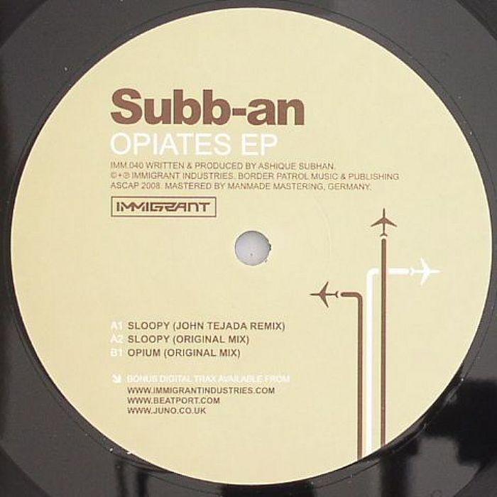 SUBB AN - Opiates EP