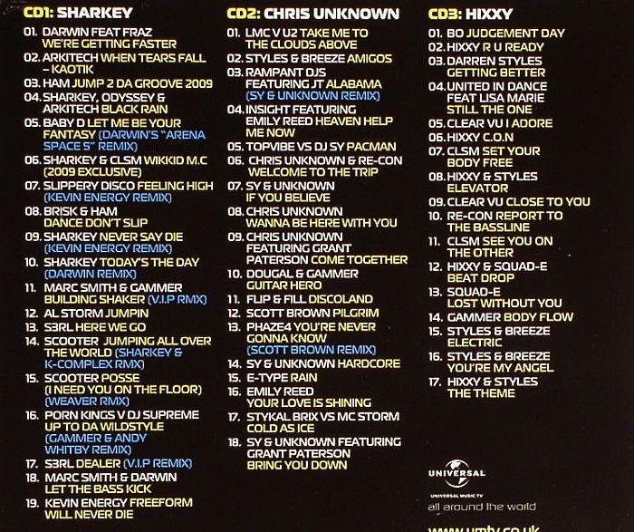 SHARKEY/CHRIS UNKNOWN/HIXXY/VARIOUS - Bonkers: The Original Hardcore